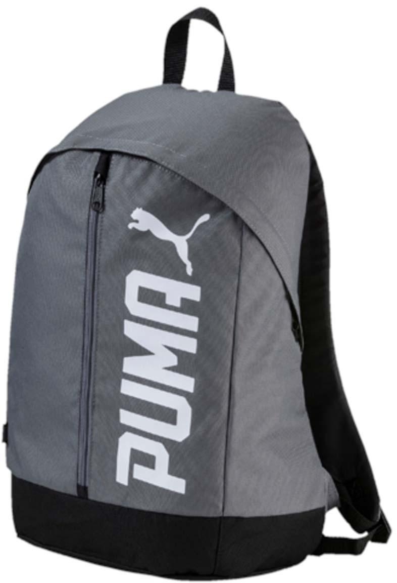 Рюкзак Puma Pioneer Backpack Ii, цвет: серый. 0744170207441702Рюкзак Puma выполнен из текстиля. Модель с одним отделением, спереди имеется карман на молнии. Рюкзак оснащен регулируемыми по длине плечевыми лямками и петлей для подвешивания.