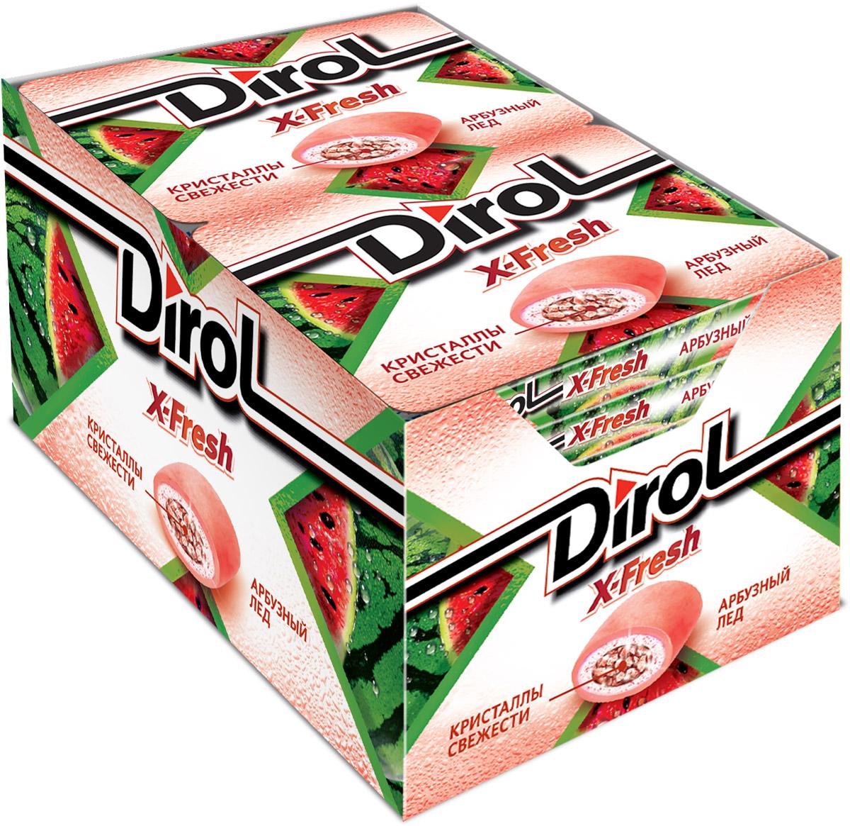 Dirol X-Fresh Арбузный лед жевательная резинка без сахара, 12 пачек по 16 г4021336Dirol X-Fresh Арбузный лед - популярная жевательная резинка. Обладает ярко выраженным долгим неугасаемым вкусом. В пачке 8 подушечек. Общеизвестно, что древние греки использовали смолу мастичного дерева или пчелиный воск, чтобы освежить дыхание и очистить зубы от остатков еды. Племена Майя наслаждались жеванием каучука. На севере Америки индейцы наслаждались подобием жевательной резинки - смолы хвойных деревьев, предварительно выпаренной на костре. В Сибири пользовалась популярностью сибирская смолка, с её помощью чистили зубы и укрепляли десны. В Европе зарождение жевательной культуры обозначено в 16 веке благодаря завезенному из Вест-Индии табаку. Затем жвачка появилась в Соединенных Штатах. Вплоть до 19 века попытки внедрить воск, парафин вместо жевательного табака терпели крах.
