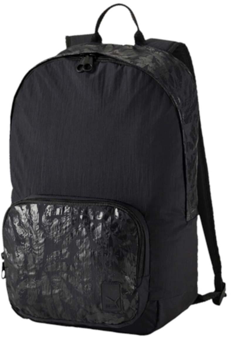 Рюкзак женский Puma Prime Backpack, цвет: черный. 0746160507461605Рюкзак Puma выполнен из текстиля. Модель с одним отделением, спереди имеется карман на молнии. Рюкзак оснащен регулируемыми по длине плечевыми лямками и петлей для подвешивания.