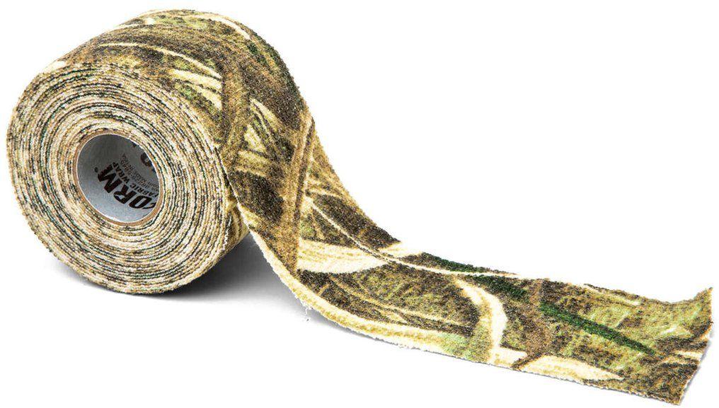 Камуфляжная лента McNett, цвет: камыш19502Камуфляжная лента многоразовая McNett, цвет - камыш. Арт. 19502 Применяется для защиты и маскировки ружей, оптических прицелов, биноклей, фонарей, ножей, фляг и другого снаряжения. Использование ленты позволяет избежать солнечных бликов от оружия, маскирует его, а также защищает от влаги, пыли, механических повреждений, царапин. Уменьшает шум при использовании и вероятность соскальзывания руки. Защищает руки от горячих и холодных поверхностей. Пропитанная латексом, эластичная тканая лента прилипает ко всем поверхностям, прекрасно обтекая их. Прочный и тянущийся материал принимает любую форму, всегда оставаясь на месте. Лента без клейкой основы: при необходимости легко снимается, не оставляет липких следов. Лента может быть использована повторно, что позволяет менять окраску камуфлируемых предметов в зависимости от времени года и вида местности. Не теряет своих свойств в воде и при низких температурах. В экстренных случаях может заменить эластичный бандаж (бинт). ...