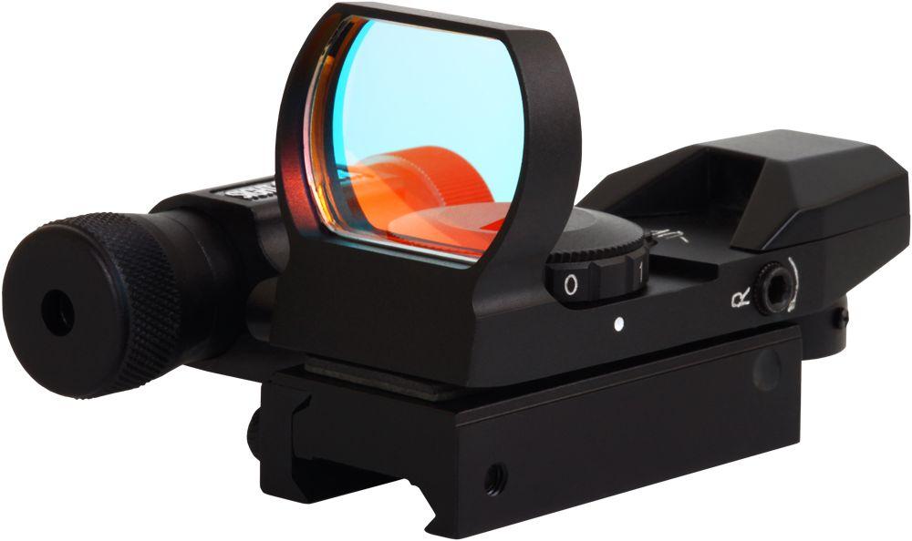 Прицел коллиматорный Sightmark, панорамный с ЛЦУ на планку 11 мм, со сменной маркойSM13002-DTКоллиматор Sightmark панорамный с ЛЦУ на планку 11 мм, марка - сменная 4 вида, подсветка красная. Арт. SM13002-DT Компания Sightmark, США,Техас, Мэнсфилд впервые представила свою продукцию в 2007 году на SHOT Show. Основной целью компании является разработка и производство современной оптики и аксессуаров для охотников, спортсменов и стрелков. Кроме того, каждый продукт разработан для специализированного рынка, позволяя стрелкам получить больше высококачественных изделий для их огнестрельного оружия и пистолетов. Все коллиматорные прицелы Sightmark разработаны для ружей, винтовок и пистолетов. Коллиматорный прицел SM13002-DT интегрирован с лазерным целеуказателем. ЛЦУ крепится к коллиматору двумя винтами. Регулировка яркости прицельной марки выполняется восьмиступенчатым переключателем, который совмещен с батарейным отсеком. Устанавливается коллиматор на планку 11 мм. - ласточкин хвост. Имеет 4 типа прицельной марки, 7 режимов яркости прицельной марки. ...
