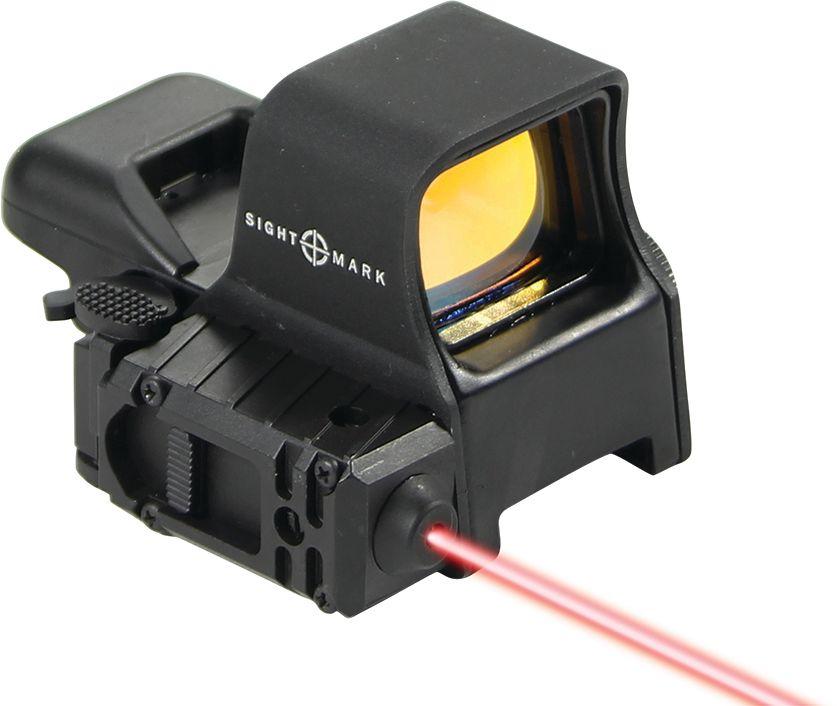 Прицел коллиматорный Sightmark, панорамный с ЛЦУ на Weaver, со сменной маркой, режим NVSM14003Коллиматор Sightmark панорамный с ЛЦУ на Weaver, марка - сменная 4 вида, подсветка красная, режим NV. Арт. SM14003 Компания Sightmark, США,Техас, Мэнсфилд впервые представила свою продукцию в 2007 году на SHOT Show. Основной целью компании является разработка и производство современной оптики и аксессуаров для охотников, спортсменов и стрелков. Кроме того, каждый продукт разработан для специализированного рынка, позволяя стрелкам получить больше высококачественных изделий для их огнестрельного оружия и пистолетов. Все коллиматорные прицелы Sightmark разработаны для ружей, винтовок и пистолетов. Коллиматорный прицел Sightmark SM14003 имеет интегрированное быстросъемное крепление на планку Weaver/Picatinny, позволяющее стрелку эффективно и быстро установить его на свое огнестрельное оружие. Оснащен возможностью работы с ночными монокулярами. Интегрирован с лазерным целеуказателем. Выносная кнопка позволяет удобно закрепить его на цевье и включать ЛЦУ при необходимости одним...