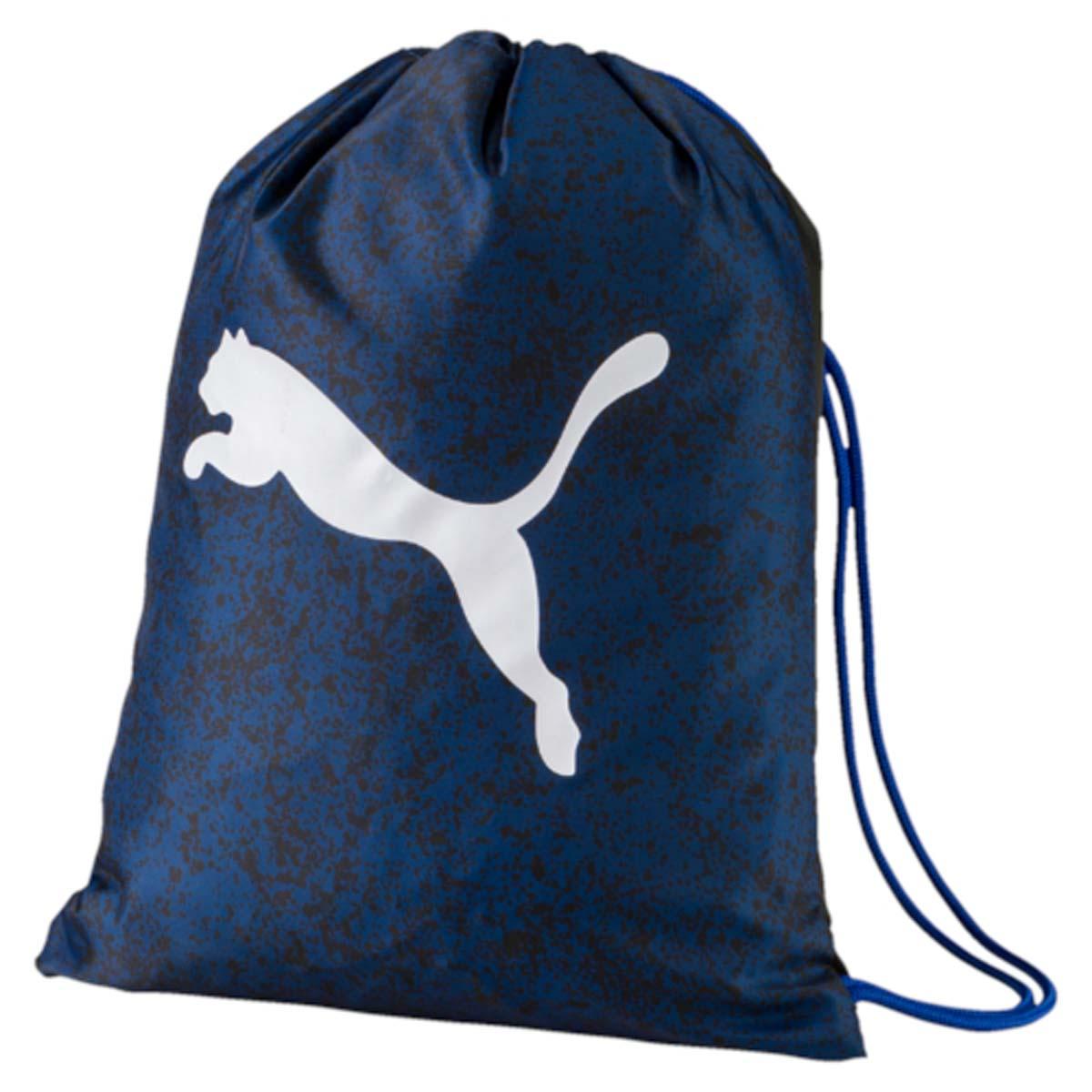 Рюкзак Puma Alpha Gym Sack, цвет: синий. 0744070307440703Спортивный рюкзак Puma выполнен из текстиля. Модель с одним отделением на затягивающемся шнурке и тонких лямках.