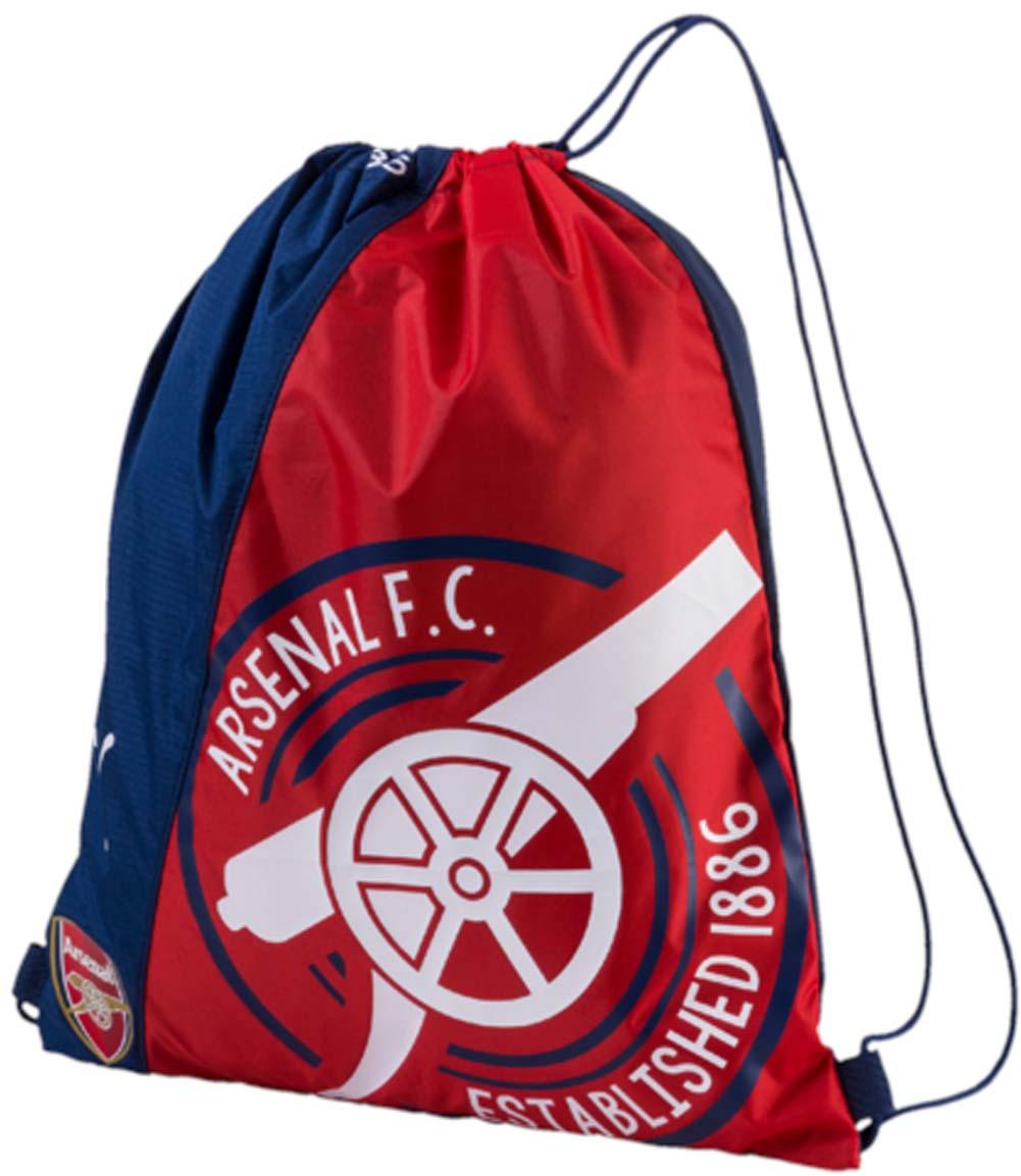 Рюкзак Puma Arsenal Fanwear Gym Sack, цвет: синий, красный. 0746210107462101Спортивный рюкзак Puma выполнен из текстиля. Модель с одним отделением на затягивающемся шнурке и тонких лямках.