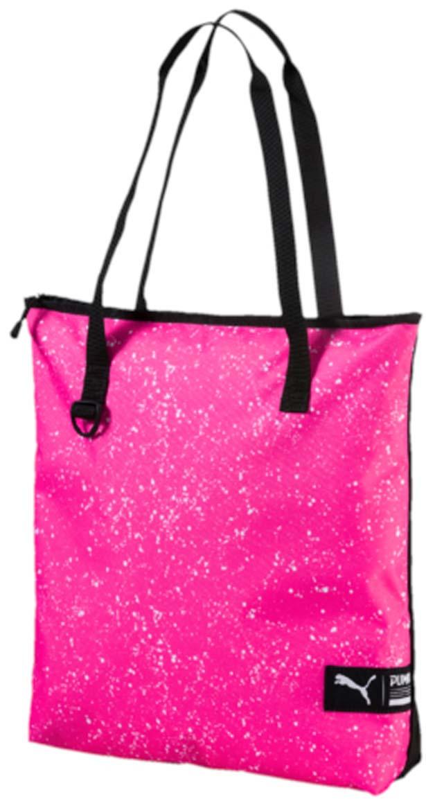 Сумка городская Puma Fundamentals Shopper Ii, цвет: розовый. 0744120207441202Удобная вместительная сумка для ежедневных покупок, которую можно использовать и для ношения необходимых тебе аксессуаров для тренировок. Основное отделение на молнии, две тканевые ручки, карабин спереди, тканевый логотип бренда спереди.