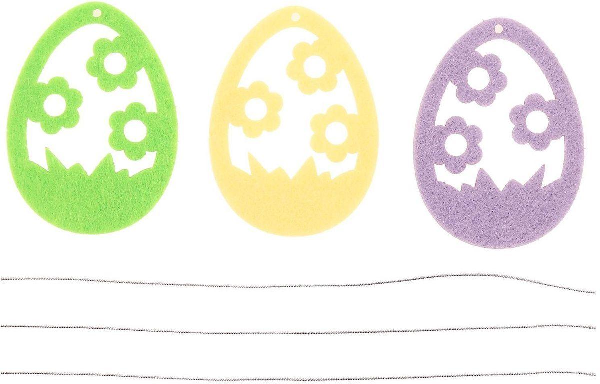 Набор пасхальных подвесок Луговые цветы, 6 см, 3 шт2095994Пасха – весенний праздник, в это время года природа пробуждается после долгой спячки и поражает своим великолепием и красками. А сейчас подумайте, если к этому добавить оригинальный пасхальный декор, то обстановка становится по-настоящему праздничная. С помощью набора пасхальных подвесо для вас открываются сотни вариантов украшения праздничного пространства.