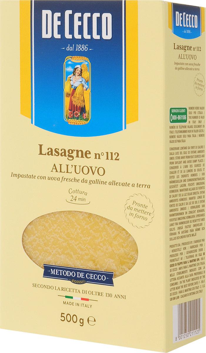 De Cecco паста лазанья с добавлением яйца №112, 500 г8001250211125Согласно древнему правилу, для приготовления яичной пасты De Cecco используются исключительно натуральные свежие яйца (около трех дней после снесения), охлажденные до температуры 2-3 °С. Лазанья родом из северной и центральной Италии, имеют форму в виде широких, плоских пластин. Это один из древнейших видов макаронных изделий - появились в 10 веке н.э. Вероятнее всего, название произошло от латинского Lagana, которое в свою очередь произошло от греческого laganon (большой пласт теста нарезанный полосками). Лазанья отлично сочетается с рагу по-неаполитански с сыром рикотта или с соусом из дичи.