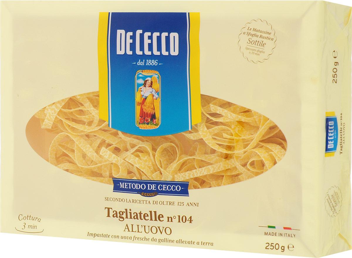 De Cecco паста тальятелле с добавлением яйца №104, 250 г 8001250201041
