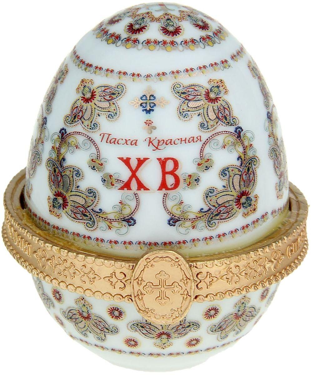Яйцо-шкатулка Эдемский сад, без ножек, 5 х 5 х 6,5 см. 10463071046307Пасхальное яйцо — символ жизни и возрождения, ведь именно в Пасху традиционно дарят крашеные или расписные яйца. А в такую забавную шкатулочку можно положить одно из таких яиц и преподнести своему самому родному и близкому человеку, такой презент никогда не забудется, и будет отличаться от других поздравлений.