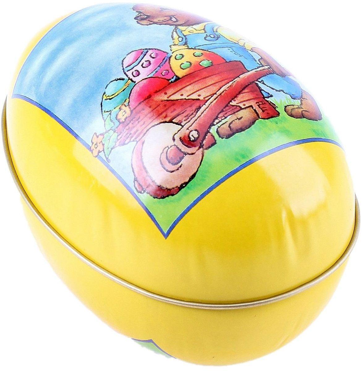 Шкатулка-яйцо Пасха. Зайчик с тележкой яиц, 12,2 х 8 см. 117631117631Пасхальное яйцо — символ жизни и возрождения, ведь именно в Пасху традиционно дарят крашеные или расписные яйца. А в такую забавную шкатулочку можно положить одно из таких яиц и преподнести своему самому родному и близкому человеку, такой презент никогда не забудется, и будет отличаться от других поздравлений.