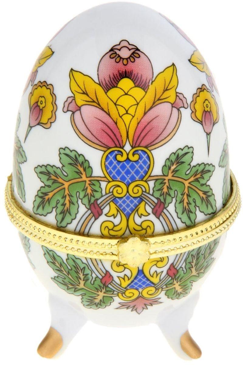 Шкатулка Райский цветок, 6 х 6,5 х 10 см. 295544295544Пасхальное яйцо — символ жизни и возрождения, ведь именно в Пасху традиционно дарят крашеные или расписные яйца. А в такую забавную шкатулочку можно положить одно из таких яиц и преподнести своему самому родному и близкому человеку, такой презент никогда не забудется, и будет отличаться от других поздравлений.