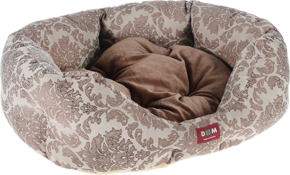 Лежак для животных Dogmoda Ампир, 58 x 52 x 22 смDM-160267-2Лежак для животных Dogmoda Ампир прекрасно подойдет для отдыха вашего домашнего питомца. Изделие выполнено из прочной ткани и снабжено высокими широкими бортиками и съемной мягкой подушкой. Наполнен лежак холлофайбером. Комфортный и уютный лежак обязательно понравится вашему питомцу, животное сможет там отдохнуть и выспаться.