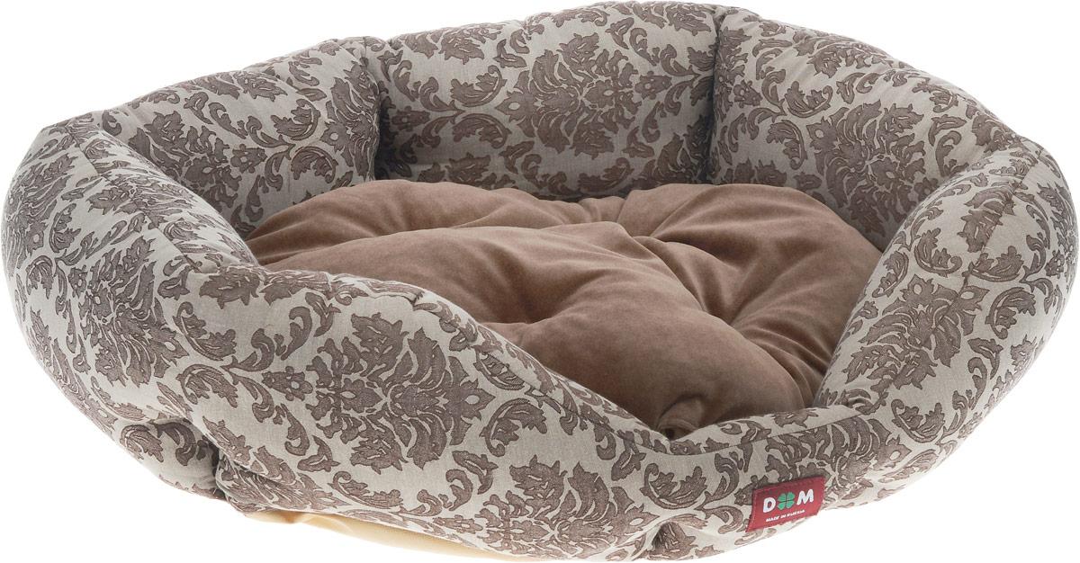 Лежак для животных Dogmoda Ампир, 67 x 58 x 22 смDM-160267-3Лежак для животных Dogmoda Ампир прекрасно подойдет для отдыха вашего домашнего питомца. Изделие выполнено из прочной ткани и снабжено высокими широкими бортиками и съемной мягкой подушкой. Наполнен лежак холлофайбером. Комфортный и уютный лежак обязательно понравится вашему питомцу, животное сможет там отдохнуть и выспаться.