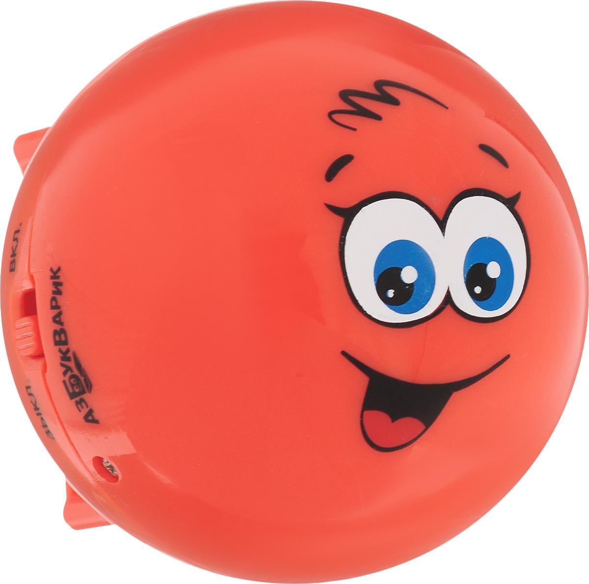 Азбукварик Музыкальная игрушка Веселый колобок цвет красный