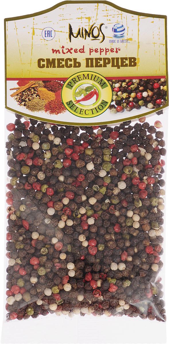 Minos Смесь перцев, 50 г17018Великолепно подобранным и сбалансированным по вкусовым качествам продуктом является приправа под названием Смесь перцев. Традиционно в нее входят горошины черного, белого, розового и зеленого перцев. Восхитительный аромат и непревзойденный вкус подарит эта смесь. Перец белого цвета по вкусу нежнее и намного ароматнее черного, добавит блюдам легкую остроту. Горошины зеленого перца имеют пряный аромат и достаточно резкий острый вкус, способствует скорейшему перевариванию тяжелой пищи, а розовый перец имеет сложный и насыщенный аромат с тонами цитрусовых, имбиря и аниса. Самое правильное использование приправы - помолоть ее прямо на готовое блюдо, салат, закуску или стейк (калоризатор). Но, если смесь перцев используется во время приготовления кушаний, то лучше добавлять ее в самом конце процесса, во избежание потери аромата.