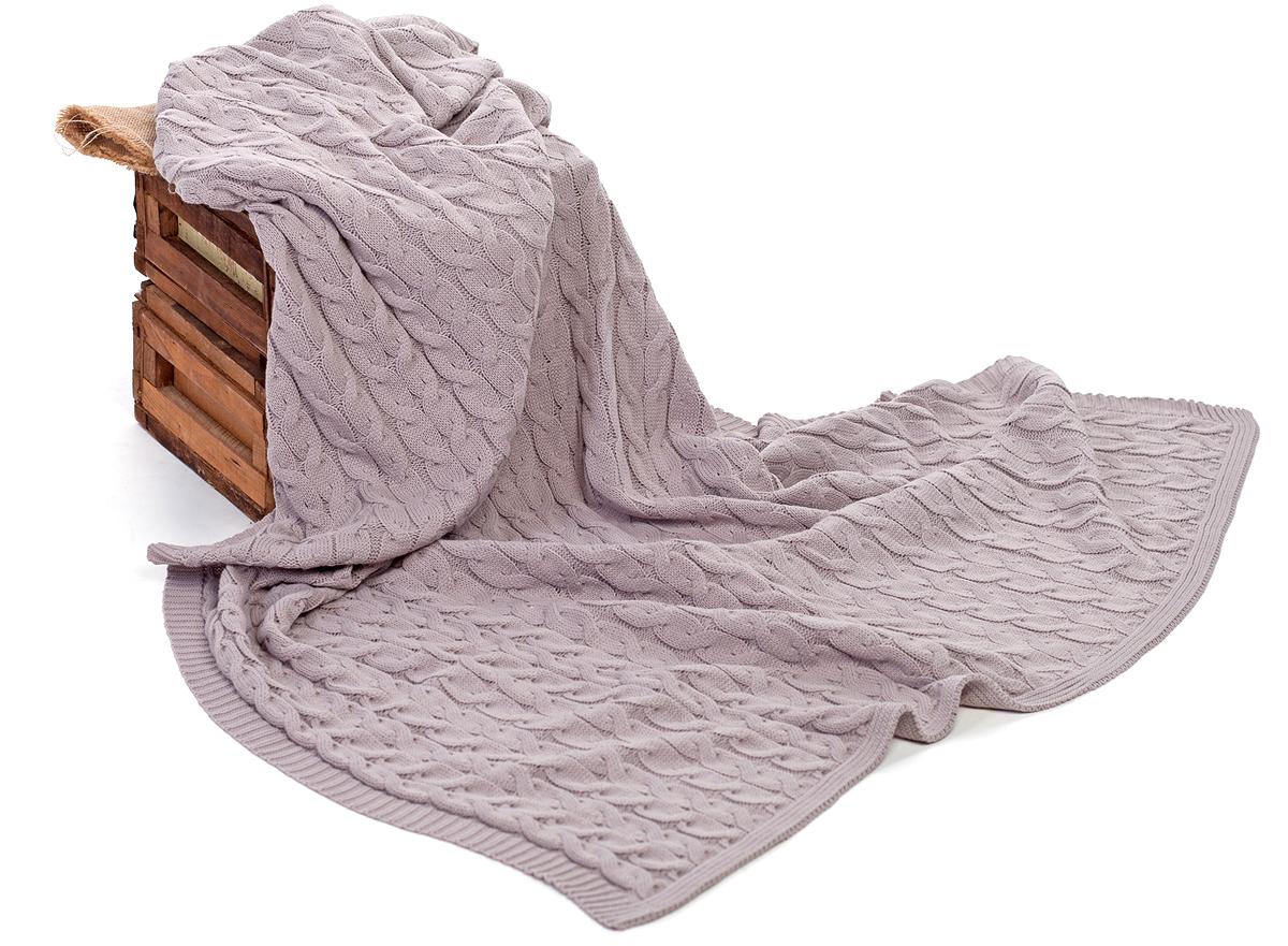 Плед Happychoice, цвет: светло-серый, 130 х 180 см102