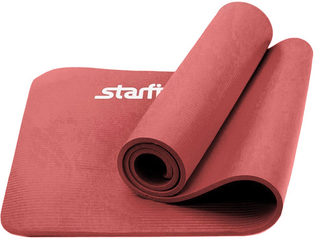 Коврик для йоги Starfit, цвет: кораллово-розовый, 183 x 58 x 1,2 смУТ-00008850Коврик для йоги Star Fit - это современный, удобный и компактный аксессуар для занятий фитнесом и йогой в группах или домашних условиях. Изделие выполнено из NBR (нитрильный каучук), а не скользящая и мягкая на ощупь поверхность обеспечивает комфорт при выполнении упражнений. В процессе занятий коврик не растягивается и не теряет формы.