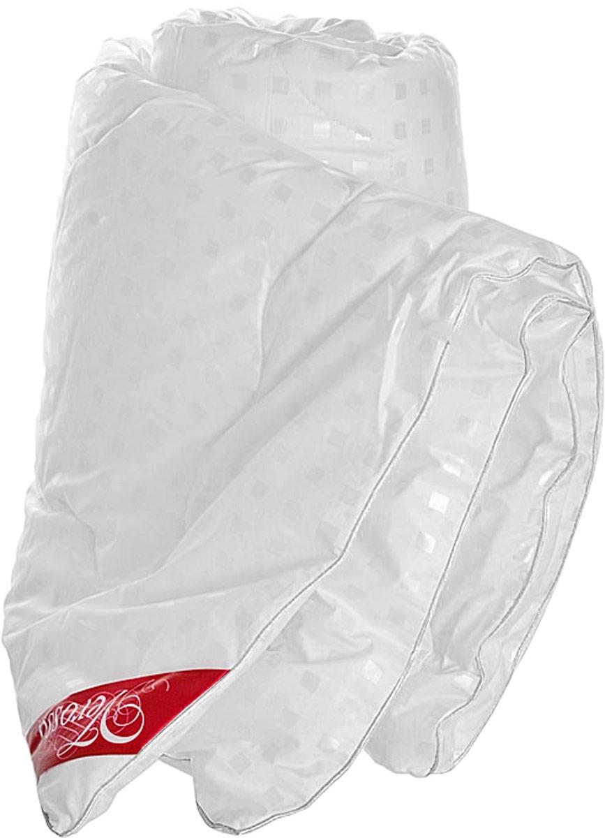 Одеяло Verossa, наполнитель: искусственный лебяжий пух, 140 х 205 см157822Одеяло Verossa обеспечит вам здоровый сон и комфорт. Для изготовления одеяла в качестве наполнителя используется лебяжий пух - высокосиликонизированное микроволокно нового поколения. Лебяжий пух - это синтетический наполнитель, состоящий из тончайшего полого полиэфирного волокна. Изделия из него по комфорту и эксплутационным качествам не уступают аналогичным из лучшего натурального пуха, при этом не вызывают аллергию, обладают отличной гигроскопичностью, быстро восстанавливают форму. Материал чехла: 100% хлопок.Наполнитель: 100% полиэстер (искусственный лебяжий пух). Уважаемые клиенты! Обращаем ваше внимание на возможные изменения в рисунке на ткани чехла. Поставка осуществляется в зависимости от наличия на складе.