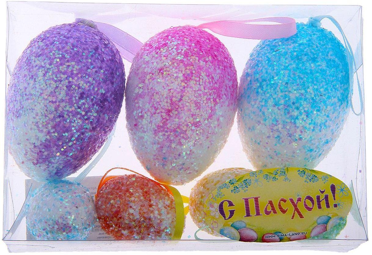 Сувенир пасхальный Sima-land Яйцо. Перелив, 7 шт114832Яйцо - это главный пасхальный символ, который символизирует для христиан новую жизнь и возрождение, поэтому его присутствие на праздничном столе является обязательным элементом во многих странах. Сегодня крашеными яйцами принято не только украшать праздничный стол. Если вы решили серьёзно подойти к декору квартиры, и вам нужно, например, подвесить яйца, закрепить на веточках, в этом вам поможет сувенир - пасхальное яйцо Перелив (набор 7 шт) - очаровательный символ, который покорит сердце каждого. Можете уложить эти чудесные яйца в плетёную корзинку, на красивую салфетку, и перед вами уже готовый подарок или композиция для сервировки стола. Приобретая такой сувенир, вы сэкономите кучу времени на росписи яиц, оставив его на выпечку самого вкусного кулича.
