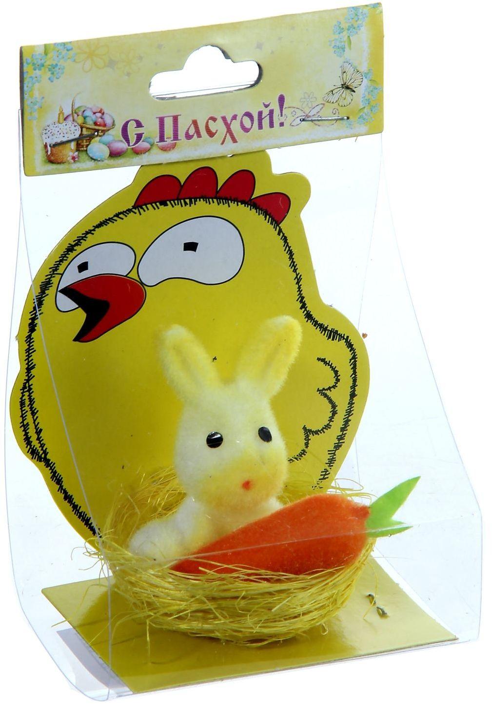 Сувенир пасхальный Sima-land Пасхальный кролик, 5 х 5 х 5,5 см926190Пасха – самый светлый семейный праздник со своими традициями, обычаями и, конечно же, символами. Самый светлый весенний семейный праздник, конечно, Пасха. Симпатичные цыплята и курочки с расписными яйцами в корзинках украшают столы в этот день вместе с традиционными блюдами и выпечкой. Перед вами сувенир Пасхальный кролик в корзинке - не просто пасхальный декор, а символ плодородия. Добавит тепло и уют в светлое весеннее воскресенье. Напомните младшему поколению, что по традиции, зайчик оставляет в подарок хорошим послушным детям разноцветные яички и сладости в тайном местечке, а в каком именно решать вам.
