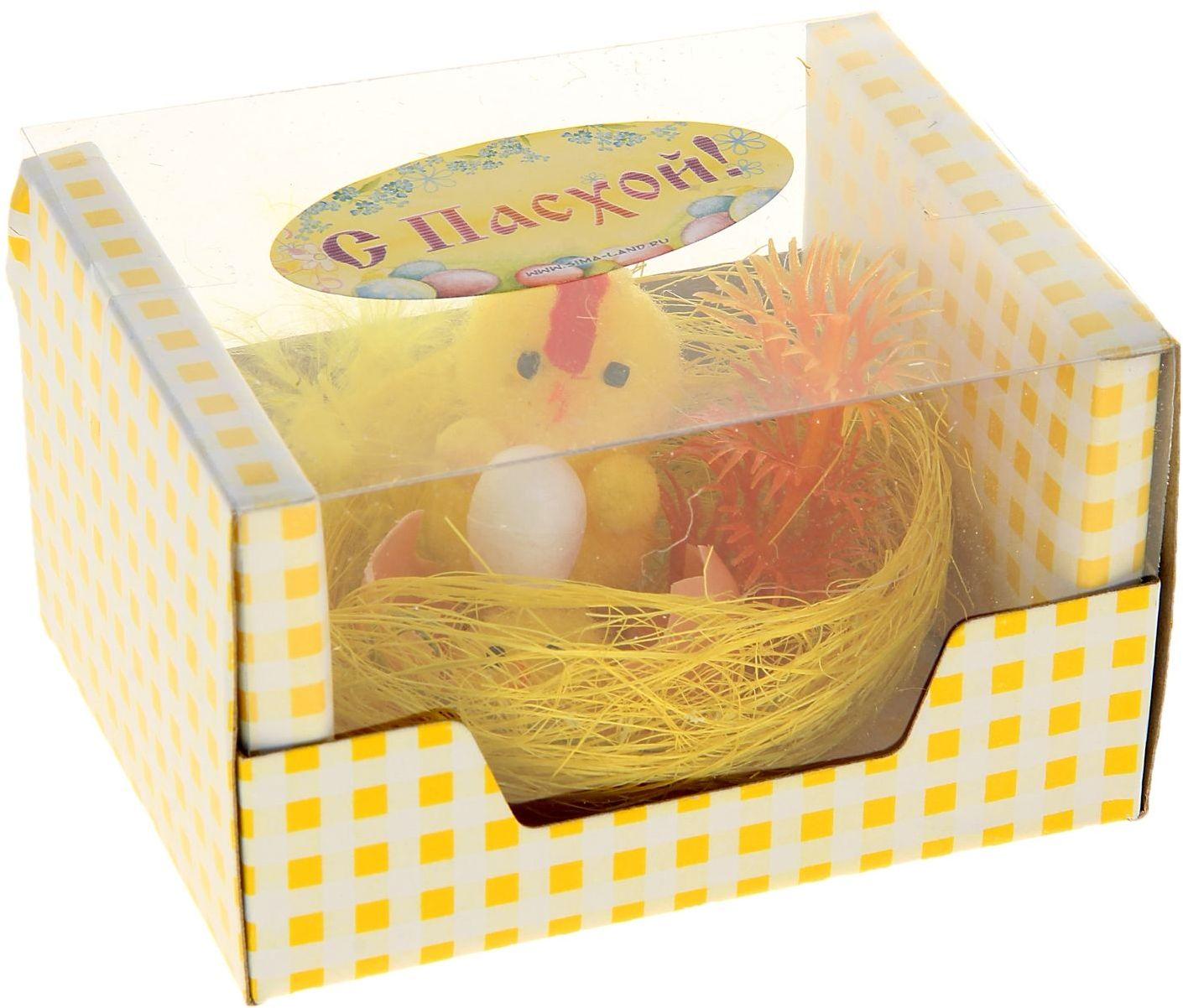 Сувенир пасхальный Sima-land Цыпа с цыпленком в скорлупе и яйцом940040Дарить подарки на Пасху – это такая же традиция, как красить яйца и выпекать куличи. Презенты вдвойне приятнее, если они несут в себе сакральный смысл и имеют какое-то значение. Сувенир Цыпа с цыпленком в скорлупе и яйцом - это символ возрождения и непрерывности жизни. С его помощью вы сможете украсить жилище, преподнести его близкому человеку или использовать при сервировке стола всю пасхальную неделю. Кроме того, пасхальные цыплята нравятся маленьким деткам.