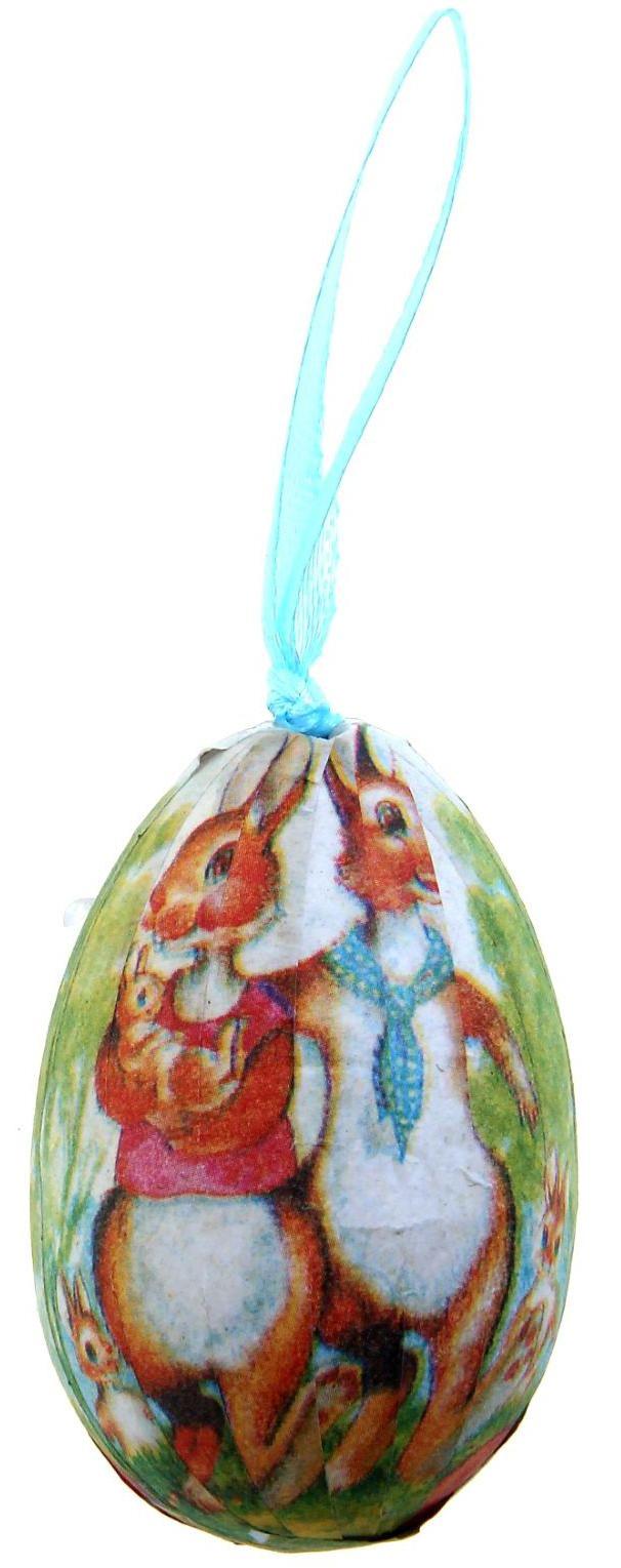 Сувенир пасхальный Яйцо. Зайка с цветами, 4 х 4 х 6 см, 6 шт. 970292970292Яйцо - это главный пасхальный символ, который символизирует для христиан новую жизнь и возрождение, поэтому его присутствие на праздничном столе является обязательным элементом во многих странах. Сегодня крашеными яйцами принято не только украшать праздничный стол.