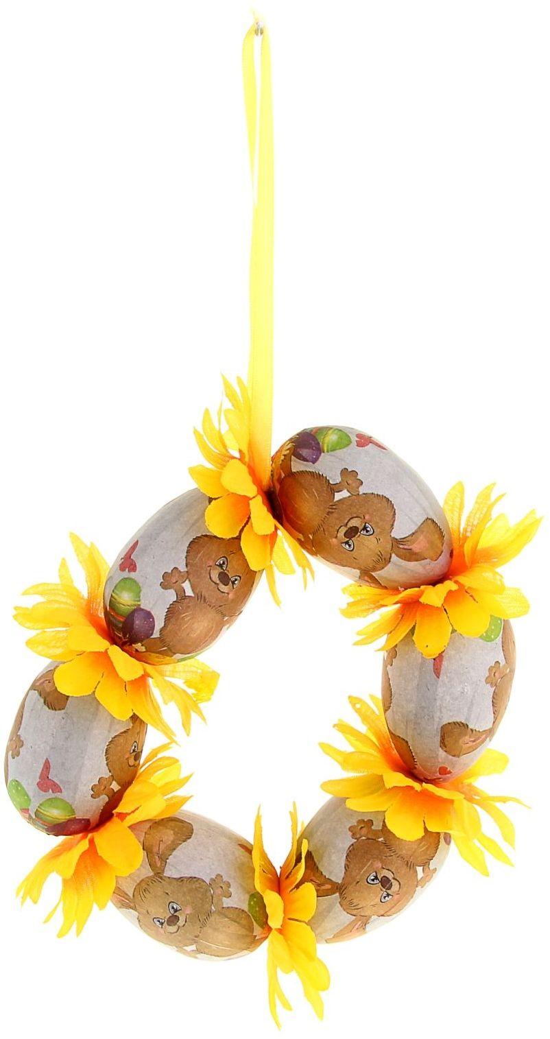 Сувенир пасхальное панно Яйцо. Зайка с ромашками, 14 см. 978286978286Пасха – весенний праздник, в это время года природа пробуждается после долгой спячки и поражает своим великолепием и красками. Данный сувенир подойдёт для украшения квартиры, офиса, магазина и т.д. С его помощью для вас открываются сотни вариантов украшения праздничного пространства либо можно использовать его в качестве подарка.
