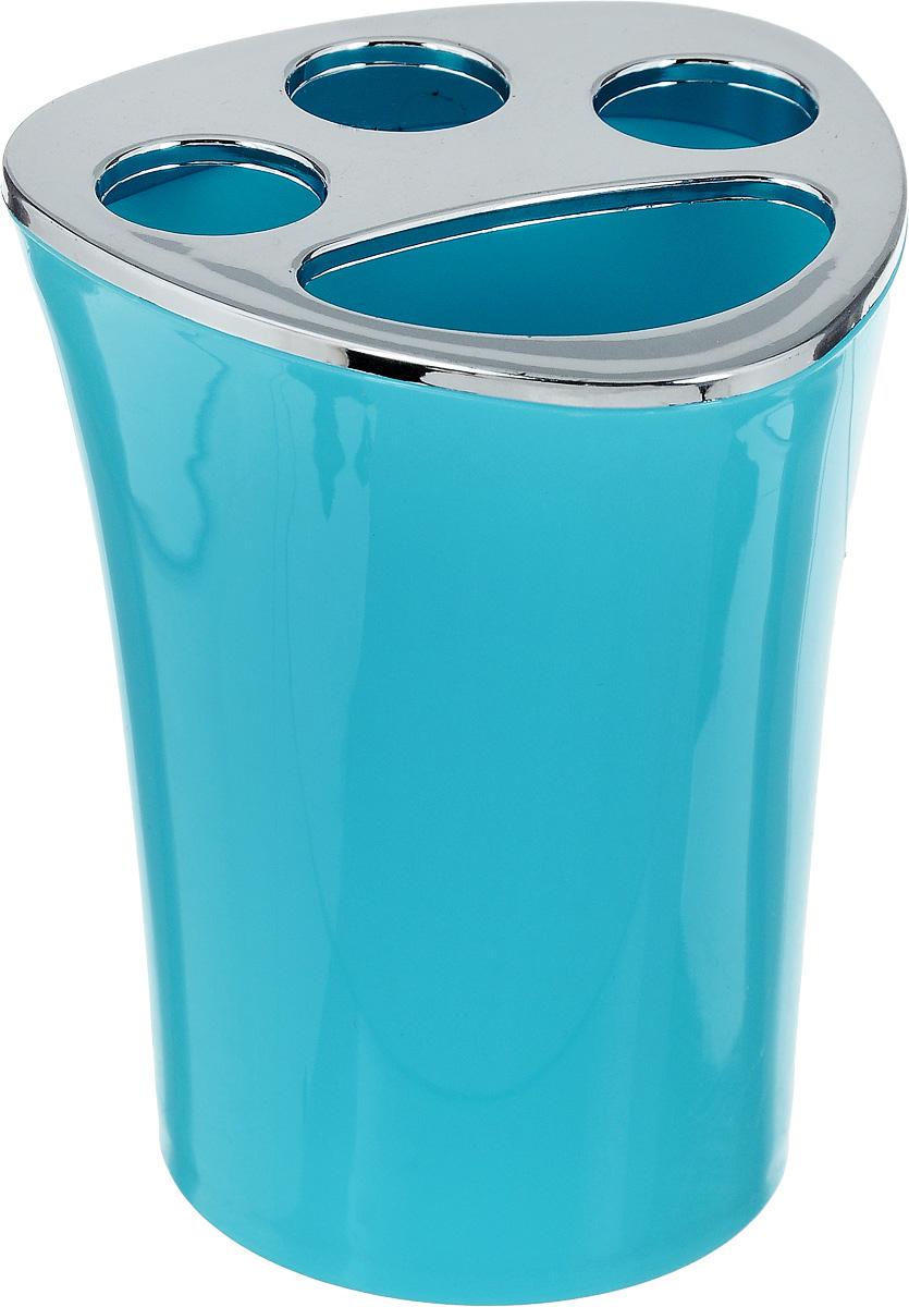Стакан для зубных щеток Vanstore Wiki Blue, цвет: бирюзовый, высота 10 см356-02_бирюзовыйОригинальный стакан для зубных щеток Vanstore Wiki Blue изготовлен из прочного пластика. Изделие снабжено 3 отверстиями для зубных щеток и одним отверстием для зубной пасты. Такой стакан отлично подойдет для вашей ванной комнаты. Вы оцените изделие за практичность и функциональность, а также стильный дизайн, который притягивает взгляд.