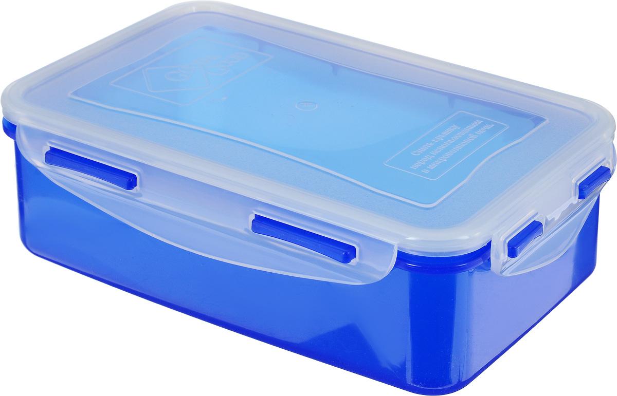 Контейнер пищевой Good&Good, цвет: синий, прозрачный, 1,1 лB/COL 3-1_синий, прозрачныйПрямоугольный контейнер Good&Good изготовлен из высококачественного полипропилена и предназначен для хранения пищевых продуктов. Благодаря особым технологиям изготовления, изделие в течение срока службы не меняет цвет и не пропитывается запахами. Крышка с силиконовой вставкой герметично защелкивается и дольше сохраняет продукты свежими и вкусными. Контейнер Good&Good удобен для ежедневного использования в быту. Можно мыть в посудомоечной машине и использовать в микроволновой печи при температуре не более 100°С (перед разогревом необходимо снять крышку). Пригоден для хранения в морозильной камере при температуре не ниже -24°С.