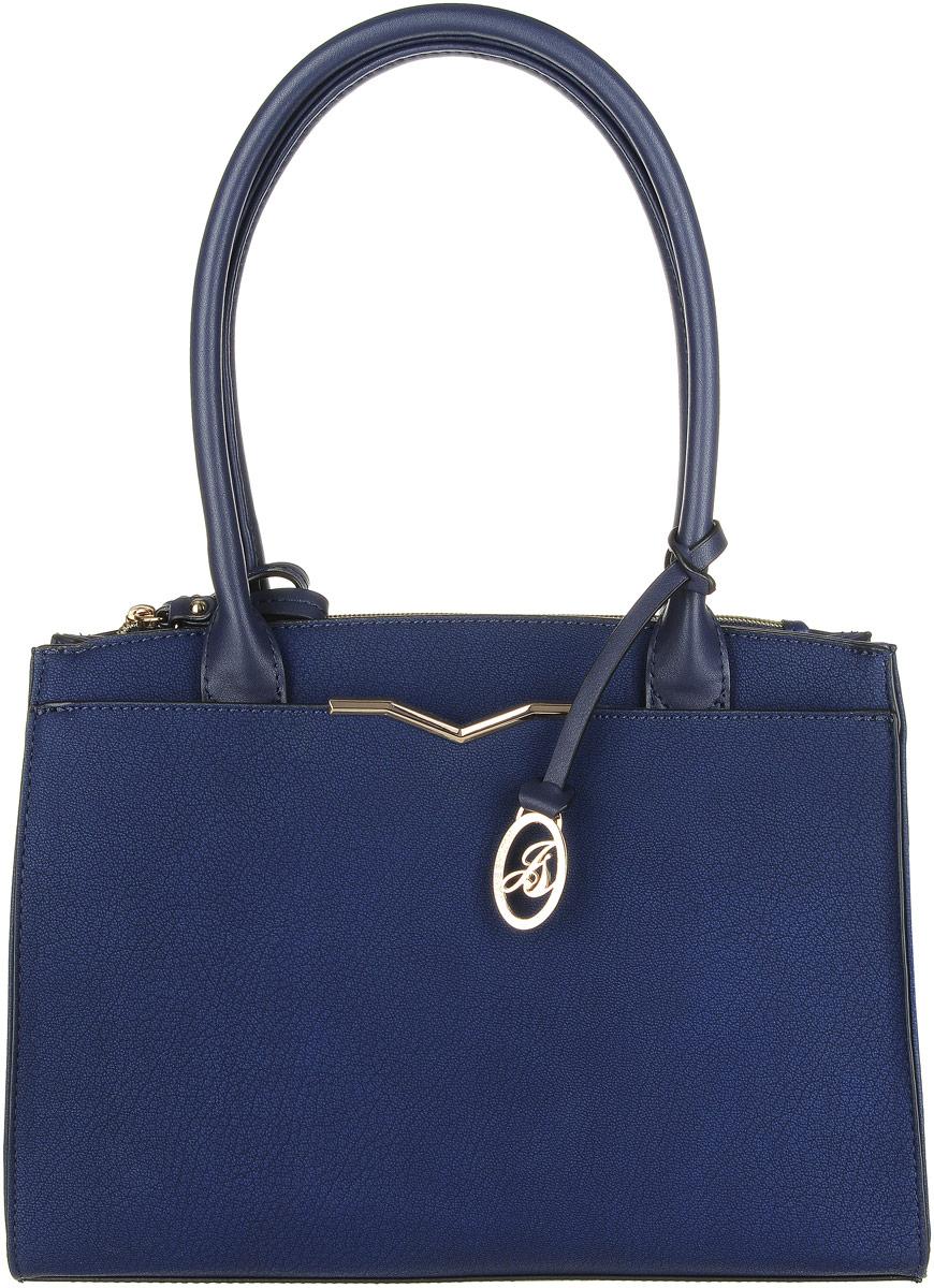 Сумка женская Jane Shilton, цвет: синий. 22832283navyПрекрасная сумочка Jane Shilton выполнена из искусственной кожи. Модель на двух ручках средней длины. Два отделения застегиваются на молнию. Спереди оригинальный карман на магните. Внутри потайной кармашек на молнии и для мобильного телефона.