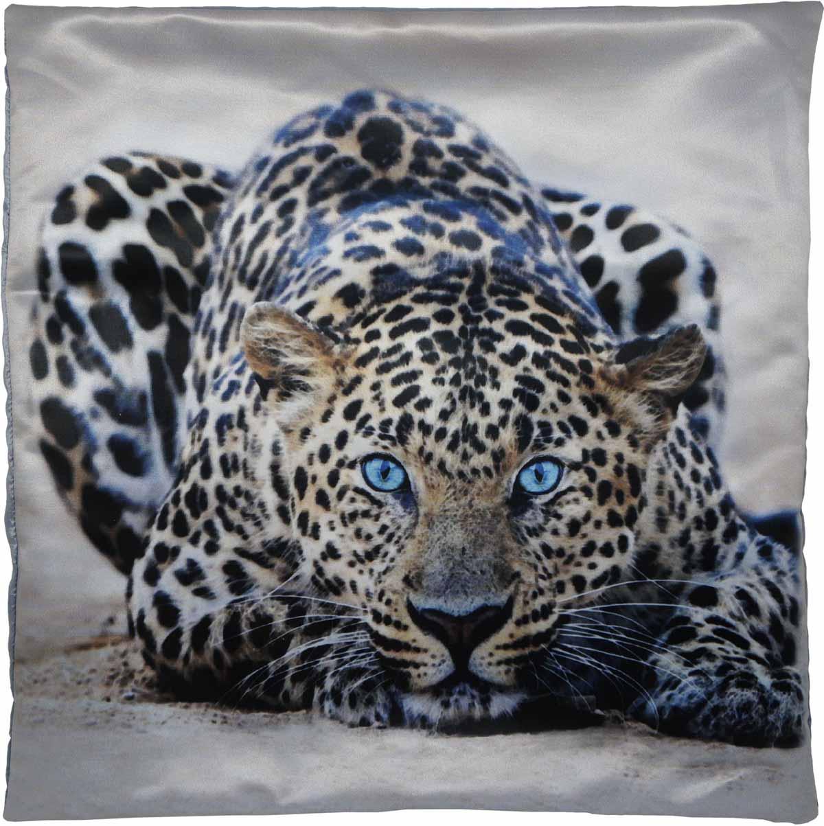 Наволочка для декоративной подушки GiftnHome Леопард, цвет: бежевый, черный, 45 х 45 смНВЛ-45 LeoИзделие изготовлено из искусственного шелка - атласа! Наволочка на молнии