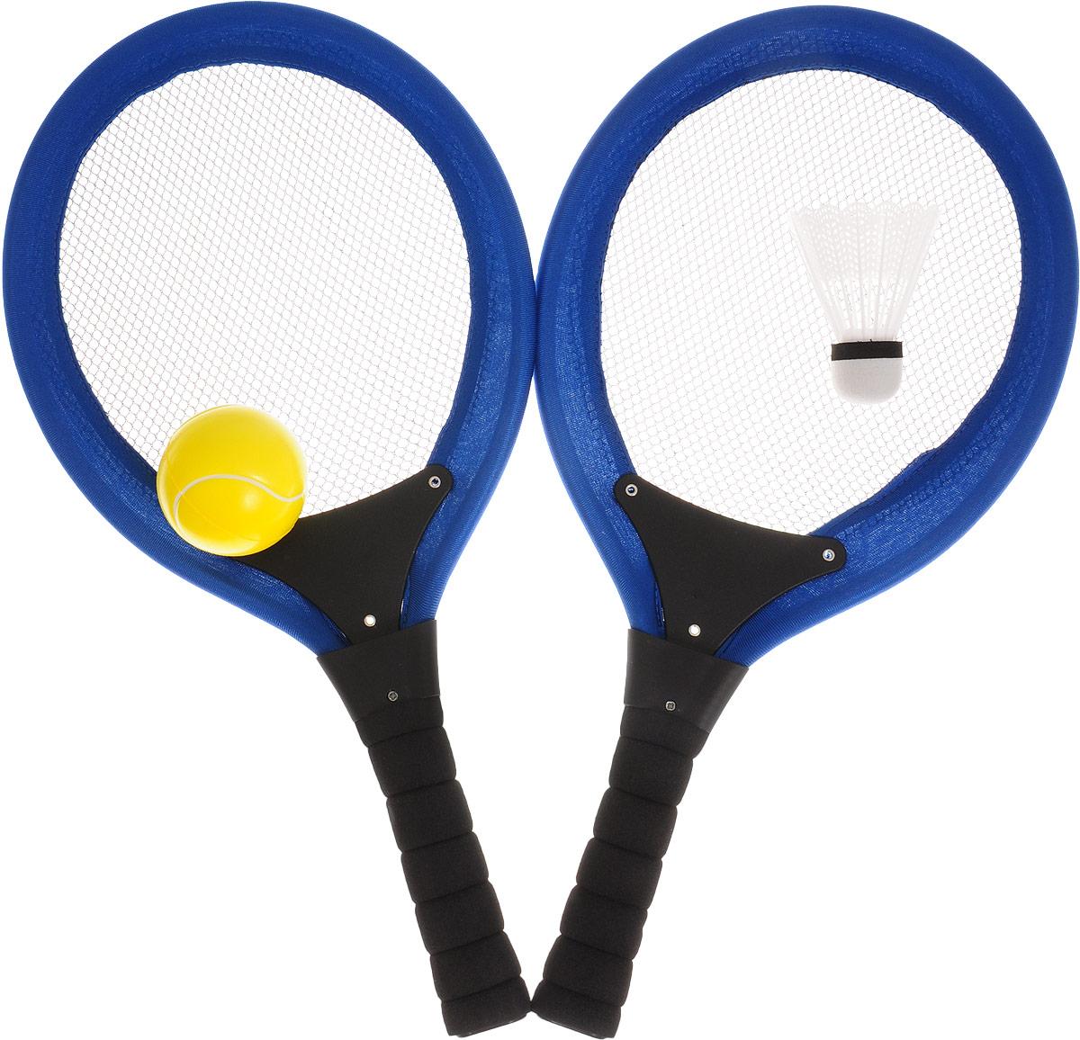 Abtoys Игровой набор Бадминтон и теннис цвет синий черный желтый