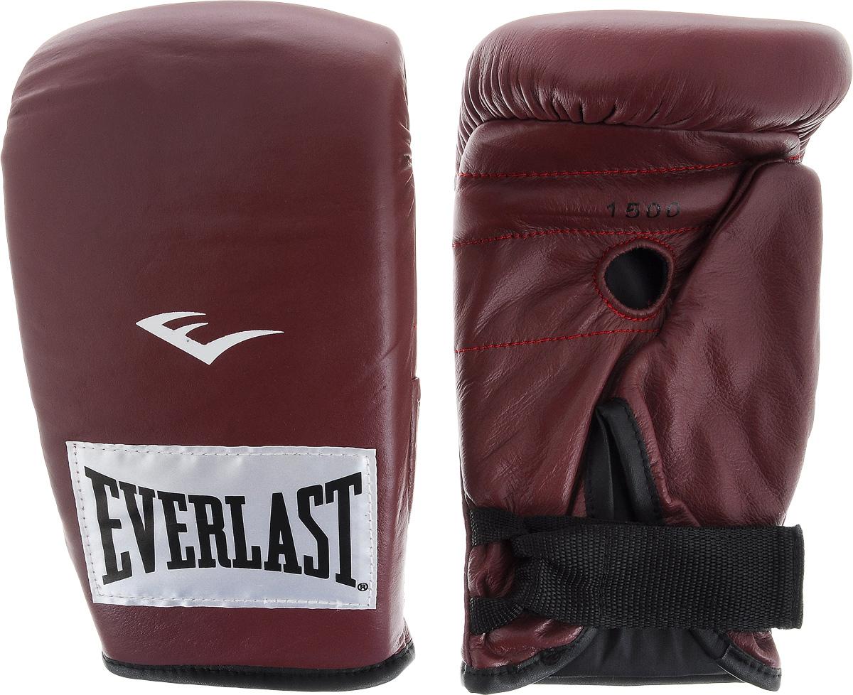 Перчатки снарядные Everlast, профессиональные, цвет: бордовый, белый. Размер L150000UПара снарядных перчаток Everlast для работы на тяжелых мешках выполнена из натуральной кожи высшего качества и оснащена удобной застежкой. Плотный пенный наполнитель и вес идеален для разминок с мешком. Хлопковый лайнер обеспечивает комфорт руки внутри перчатки.