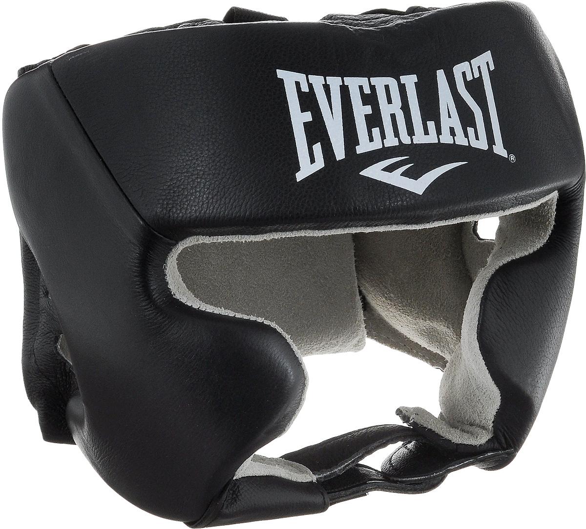 Шлем боксерский Everlast USA Boxing Cheek, с защитой щек, цвет: черный, белый. Размер L620401UEverlast USA Boxing Cheek - боксерский шлем, разработанный для выступления на любительских соревнованиях и одобренный ассоциацией USA Boxing. Плотный четырехслойный пенный наполнитель превосходно амортизирует удары и значительно снижает риск травмы. Качественная натуральная кожа (снаружи) и не менее качественная замша (внутри) обеспечивают значительный запас прочности и отличную износоустойчивость. Подгонка под необходимый размер и фиксация на голове происходят за счет надежной застежки на липучке. Если вы еще ищите шлем для предстоящих соревнований, то Everlast USA Boxing Cheek - это ваш выбор! Диаметр головы: 22 см.