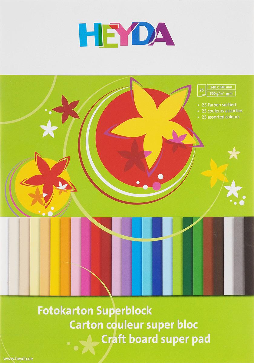 Heyda Цветной картон 25 листов47725-09\BCD-HeydaНабор цветного картона Heyda позволит создавать всевозможные аппликации и поделки. Набор включает 25 листов цветного картона размера 24 см х 34 см. Создание поделок из цветного картона позволяет ребенку развивать творческие способности, кроме того, это увлекательный досуг.