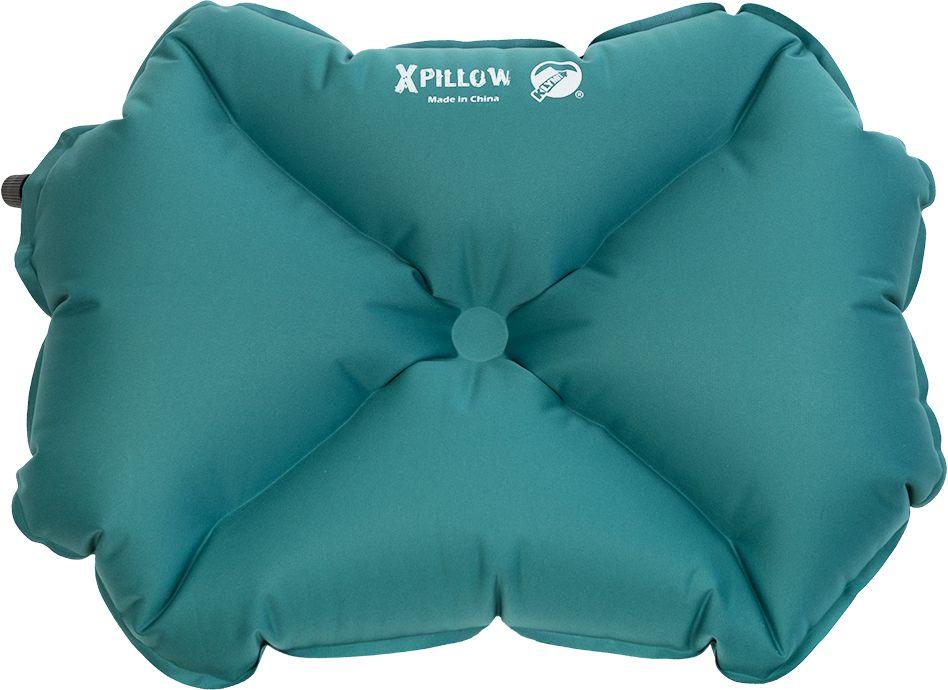 Надувная подушка Klymit Pillow X large Green, цвет: зеленая12PLTL01DЛегкая и компактная подушка класса люкс для полноценного комфорта и отдыха в путешествии. X- направляющие фиксируют положение головы во время сна. • Материал – ультрамягкий полиэстер 30D • Надувается за 3-5 выдохов • Размер – 56 cm х 32 cm х 14 cm; в сложенном виде – 8 cm х 10 cm (размер кошелька) • Вес – 91 гр. • Цвет – зеленый • Гарантия – пожизненная