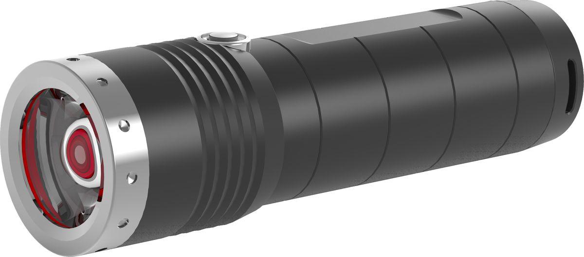 Фонарь LED Lenser MT6, цвет: черный. 500845500845Аккумуляторный фонарь cерии Outdoor. Инновационные системы – SLT (3 режима+стробоскоп), AFS, быстрый фокус RF. Световой поток- 600 лм, дальность – 260 м, время свечения в экономичном режиме - 192 часа. 1 белый светодиод СREE - Xtreme LED. Питание -3XAA, 1.5V, мощность -2 800 mAh. Защита от перегрева, от случайного включения. IPX-4. Корпус – анодированный алюминий. Длина - 141 мм. Вес - 250 г. В комплекте: нейлоновый чехол, темляк, инструкция. 7 лет гарантии. Премиальная блистерная упаковка.