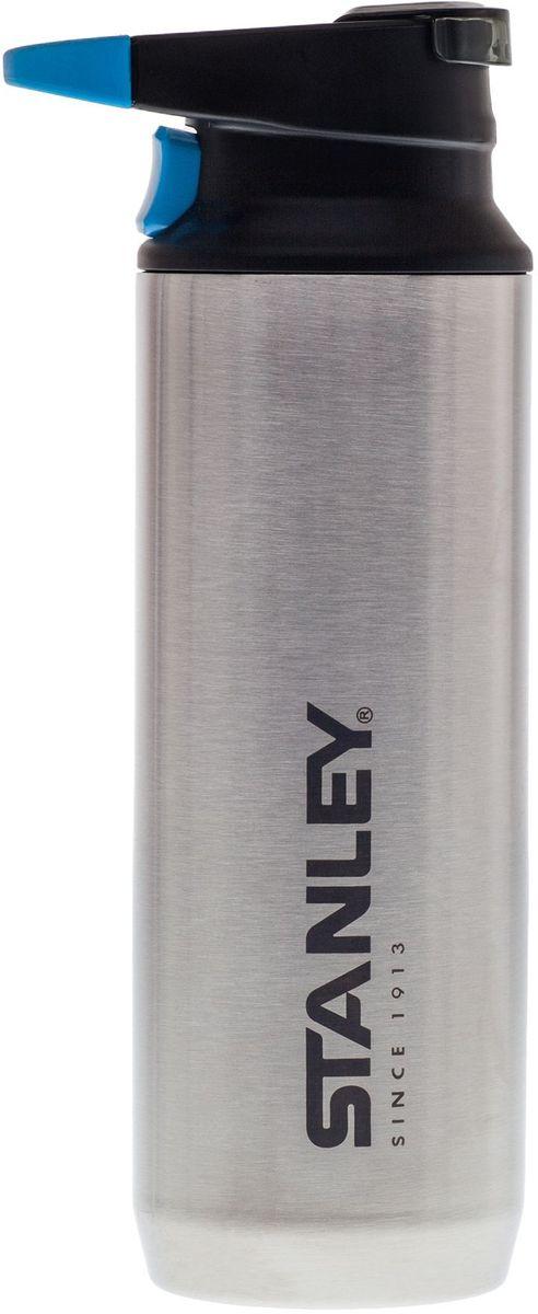 Термокружка с карабином Stanley Mountain, 0,47 л, цвет: стальной10-02285-003Термокружка с карабином. Сохраняет тепло 7 часов, холод – 9 часов, напитки со льдом – 36 часов. Вакуумная изоляция. Нержавеющая сталь. Дополнительная пластиковая крышка для отверстия для питья препятствует образованию пыли. Легко открыть, пить, закрыть нажатием на кнопку одной рукой. Карабин для захвата одним пальцем. Удобна для эксплуатации в автомобиле. Подходит для мытья в посудомоечной машине. Цвет - Стальной. Пожизненная гарантия.