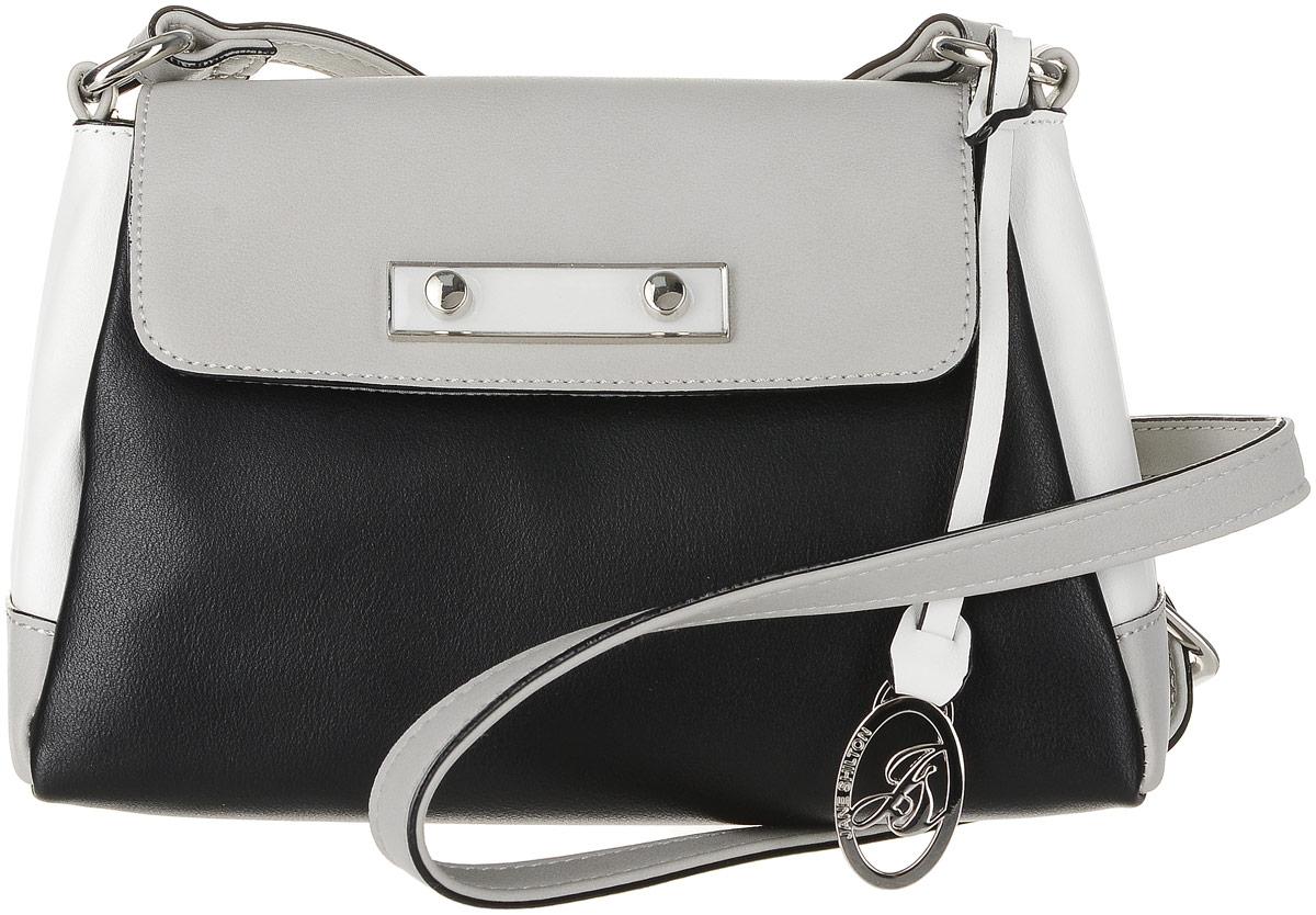 Сумка женская Jane Shilton, цвет: черный. 2293m_bl2293m_blЭффектная сумочка, застежкой на клапан и на магнит. Внутри кармашек на молнии. Сзади карман на молнии. Длинный регулируемый ремень. Высота ремня 60см.