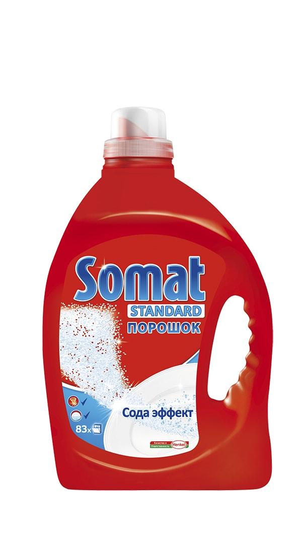 Средство для мытья посуды в посудомоечных машинах Somat, с сода-эффектом, 2,5 кг902360Средство для мытья посуды в посудомоечных машинах Somat с сода-эффектом обеспечивает кристальную чистоту и сияющий блеск вашей посуде. Оно удаляет даже сложные загрязнения и засохшие пятна при каждой мойке. Для достижения оптимального результата рекомендуется использовать также Ополаскиватель и Соль Сомат. Вес: 2,5 кг. Состав: 15-30% фосфаты, 5-15% кислородсодержащий отбеливатель, менее 5%неионогенные ПАВ, энзимы, отдушка, d - Лимонен. Также: сода, сульфат натрия, ингибитор коррозии, ТАЭД, красители. Товар сертифицирован.