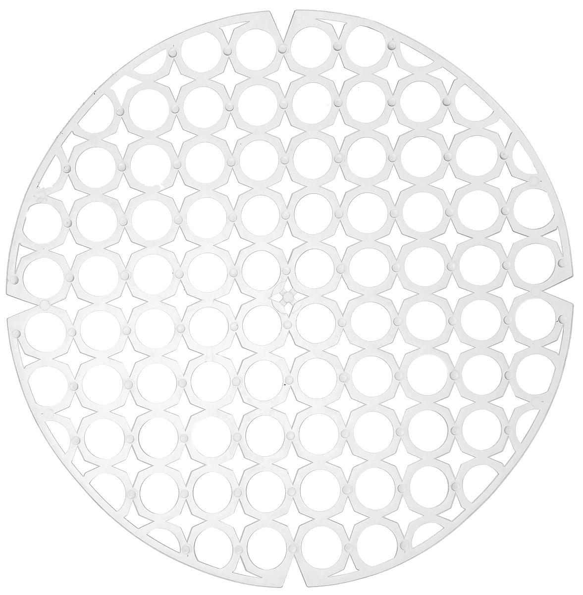Коврик для раковины York, цвет: прозрачный, диаметр 27,5 см9560_прозрачныйСтильный и удобный коврик для раковины York изготовлен из сложных полимеров. Он одновременно выполняет несколько функций: украшает, защищает мойку от царапин и сколов, смягчает удары при падении посуды в мойку. Коврик также можно использовать для сушки посуды, фруктов и овощей. Он легко очищается от грязи и жира. Диаметр: 27,5 см.