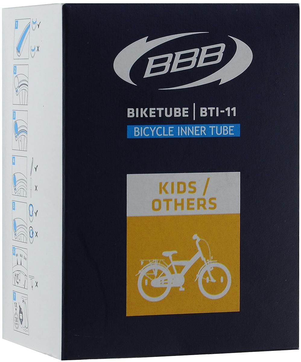 Камера велосипедная BBB, с автониппелем, диаметр колеса 16BTI-11Камера BBB выполнена из резины и предназначена для колеса шоссейного велосипеда. Толщина стенок составляет 0.87 мм, что является золотой серединой в защите от проколов и минимальным весом. Диаметр колеса: 16 (41 см). Допустимый размер сечения покрышки: 47/57C. Ниппель: Schrader (33 мм). . Уважаемые клиенты! Обращаем ваше внимание на возможные изменения в дизайне упаковки. Качественные характеристики товара остаются неизменными. Поставка осуществляется в зависимости от наличия на складе.
