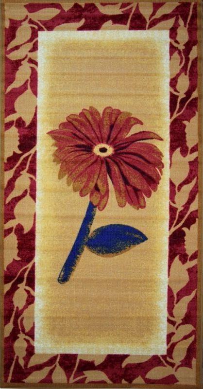 Ковер МАС Розетта. Цветок, 100 х 200 см15937/цветокВлагонепроницаемый коврик на резиновой основе подойдет для любого интерьера в гостиной, ванной или прихожей. Легко моется и чистится.