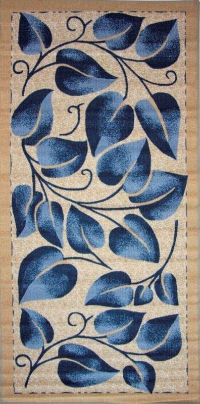 Ковер МАС Розетта. Синие листья, 100 х 200 см15937/синие листьяВлагонепроницаемый коврик на резиновой основе подойдет для любого интерьера в гостиной, ванной или прихожей. Легко моется и чистится.
