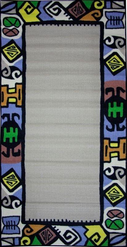 Ковер МАС Розетта. Рамка, 100 х 200 см15937/рамкаВлагонепроницаемый коврик на резиновой основе подойдет для любого интерьера в гостиной, ванной или прихожей. Легко моется и чистится.