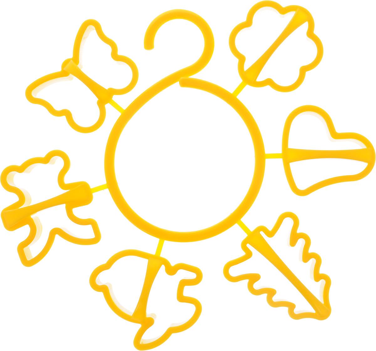 Набор форм для печенья Idea, цвет: желтый, 6 штМ 1202Набор Idea состоит из 6 форм, выполненных из полипропилена. Формы предназначены для приготовления печенья оригинальных форм. Набор позволит приготовить выпечку по вашему любимому рецепту, но в оригинальном праздничном оформлении, которое придется по душе всей семье. В комплекте входит специальный круговой крючок на который можно надеть формочки и повесить на кухне. Средний размер форм: 6,5 х 6 х 2,5 см.