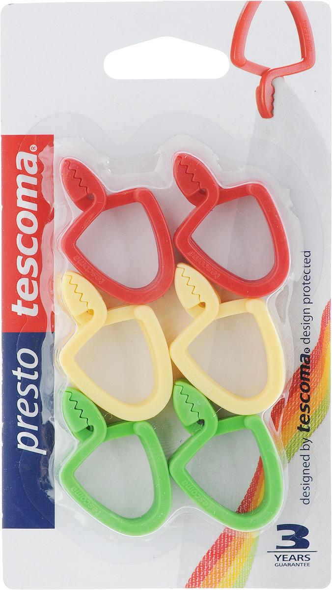 Петля универсальная Tescoma Presto, цвет: красный, желтый, зеленый, 12 шт420830Универсальная петля Tescomo Presto подходит для подвешивания полотенец, кухонных рукавиц и т.д. Изготовлена из прочной пластмассы. В комплект входит 12 петель разных цветов (синий, белый, красный, желтый, оранжевый, зеленый.