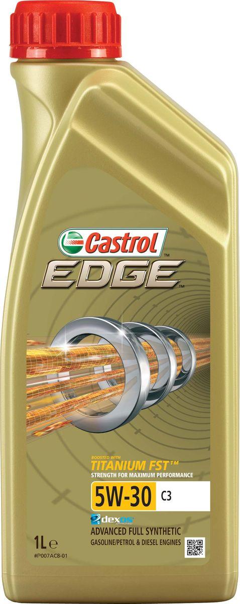 Моторное масло Castrol Edge5W-30 C3, 1 л15A569Описание Полностью синтетическое моторное масло Castrol EDGE произведено с использованием новейшей технологии TITANIUM FST™, придающей масляной пленке дополнительную силу и прочность благодаря соединениям титана.Спецификации ACEA C3 API SN/CF BMW Longlife-04 dexos2®* MB-Approval 229.31/ 229.51 Renault RN0700 / RN0710 VW 502 00/ 505 00/ 505 01 TITANIUM FST™ радикально меняет поведение масла в условиях экстремальных нагрузок, формируя дополнительный ударопоглощающий слой. Испытания подтвердили, что TITANIUM FST™ в 2 раза увеличивает прочность пленки, предотвращая ее разрыв и снижая трение для максимальной производительности двигателя. С Castrol EDGE Ваш автомобиль готов к любым испытаниям независимо от дорожных условий. Применение Castrol EDGE 5W-30 C3 предназначено для использования в бензиновых и дизельных двигателях автомобилей, в которых предписаны моторные масла, соответствующие классу вязкости SAE 5W-30 и спецификациям ACEA C3, API SN или более ранним. Castrol EDGE 5W-30 С3...