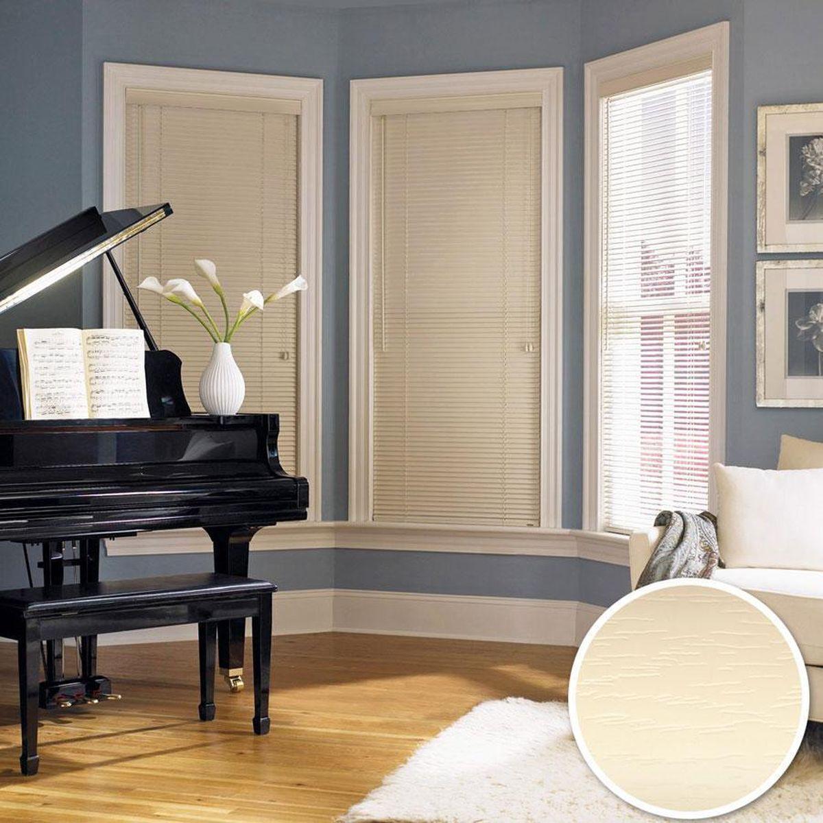 Жалюзи Эскар, цвет: бежевый, ширина 120 см, высота 160 см61009120160Для того чтобы придать интерьеру изюминку и завершенность, нет ничего лучше, чем использовать жалюзи на окнах квартиры, дома или офиса. С их помощью можно подчеркнуть индивидуальный вкус, а также стилевое оформление помещения. Помимо декоративных функций, жалюзи выполняют и практические задачи: они защищают от излишнего солнечного света, не дают помещению нагреваться, а также создают уют в темное время суток. Пластиковые жалюзи - самое универсальное и недорогое решение для любого помещения. Купить их может каждый, а широкий выбор размеров под самые популярные габариты сделает покупку простой и удобной. Пластиковые жалюзи имеют высокие эксплуатационные характеристики - они гигиеничны, что делает их незаменимыми при монтаже в детских и медицинских учреждениях.