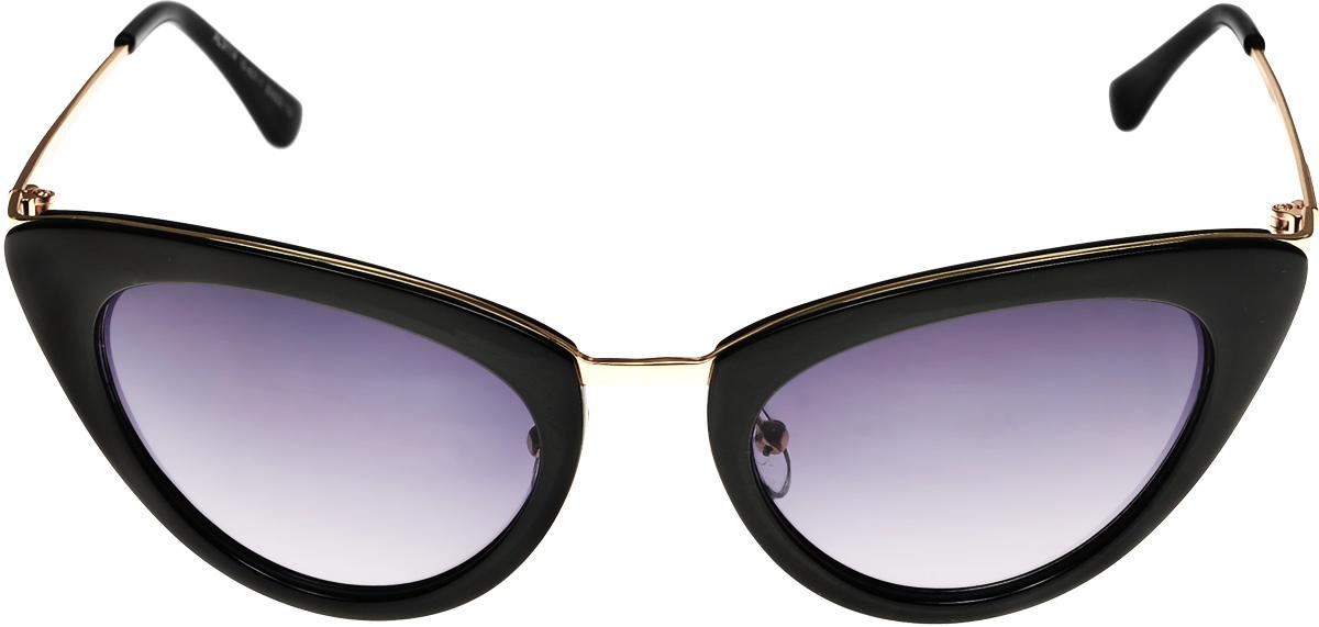 Очки солнцезащитные женские Vittorio Richi, цвет: черный. ОС911410-637-1/17fОС911410-637-1/17fОчки солнцезащитные Vittorio Richi это знаменитое итальянское качество и традиционно изысканный дизайн.